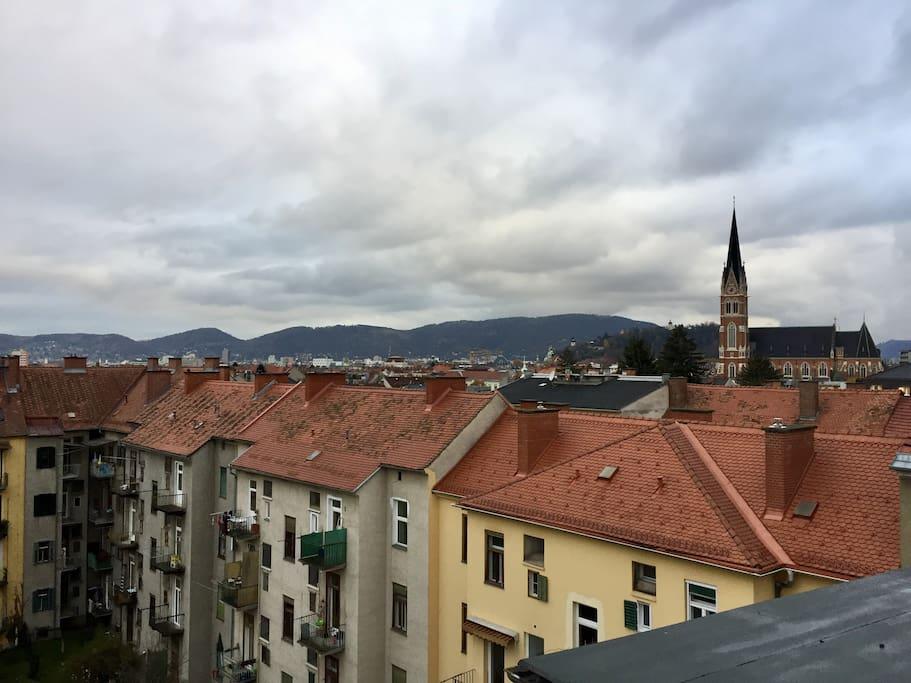 Aussicht auf Graz