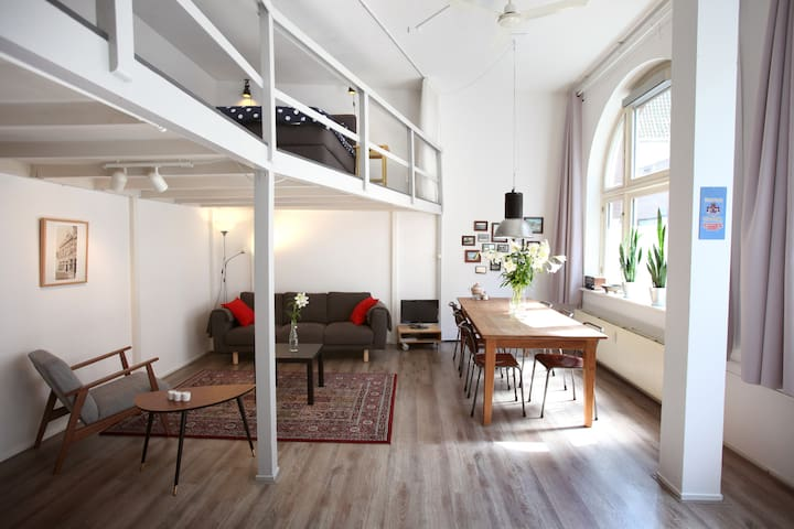 City loft in the historical centre of Haarlem
