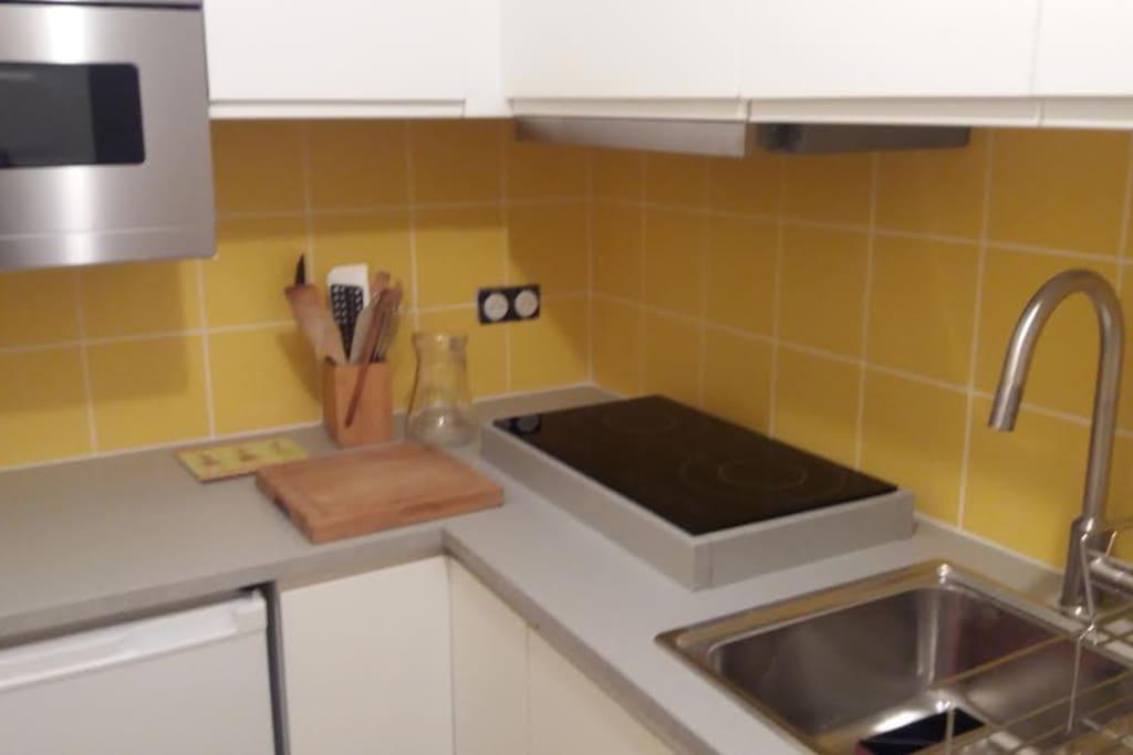 Une cuisine toute moderne et équipée
