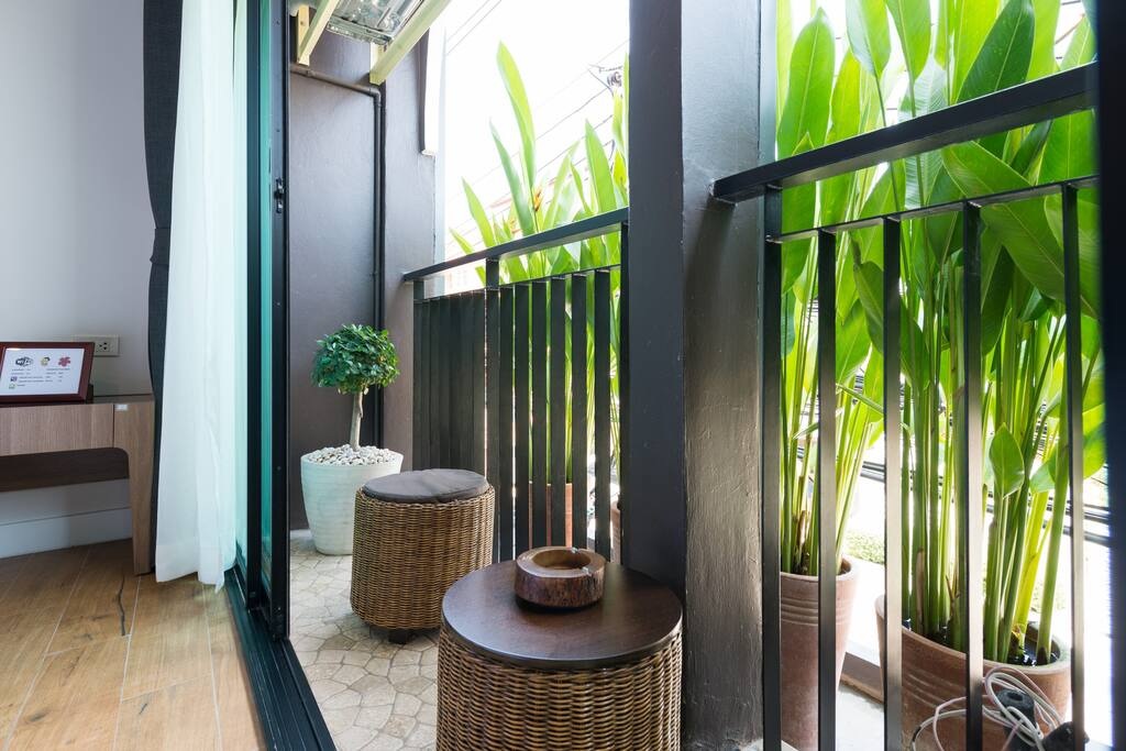 Sit back and relax at balcony.