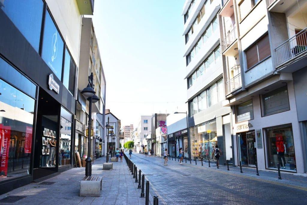 On Limassol's shopping street