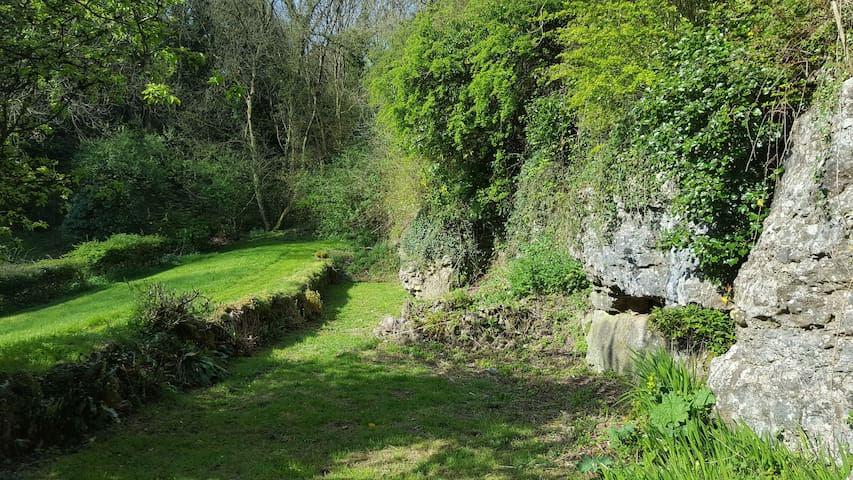 The private cliff garden and woods