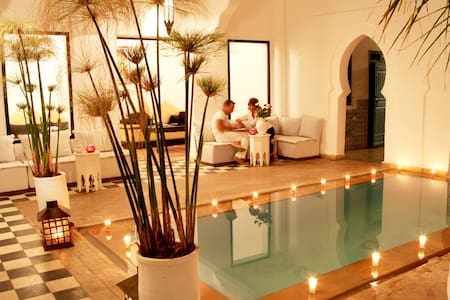 room at single or double price in a typical riad - Marrakesh