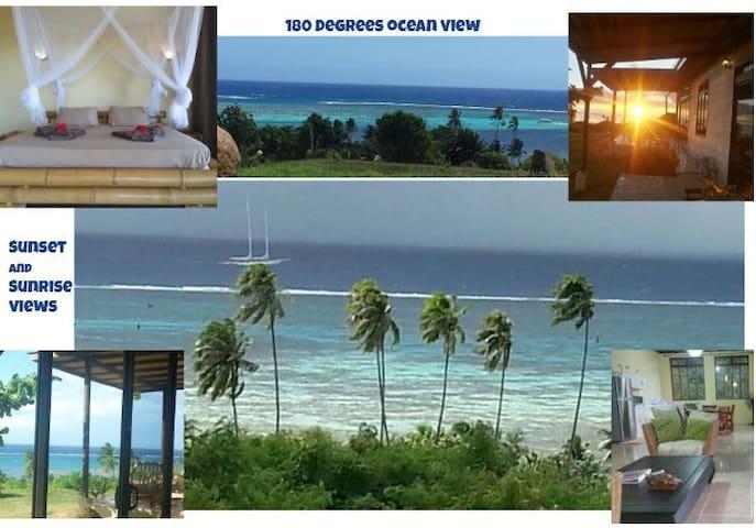 PANORAMIC OCEAN and LAGOON VIEWS House Moorea