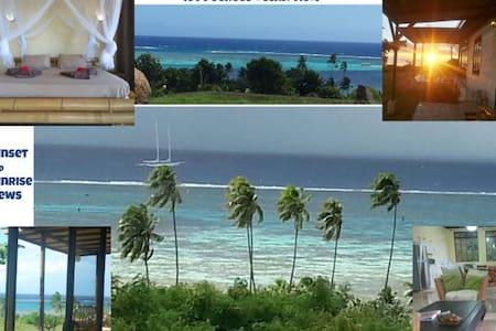 PANORAMIC OCEAN/LAGOON VIEWS-AC- Home Moorea