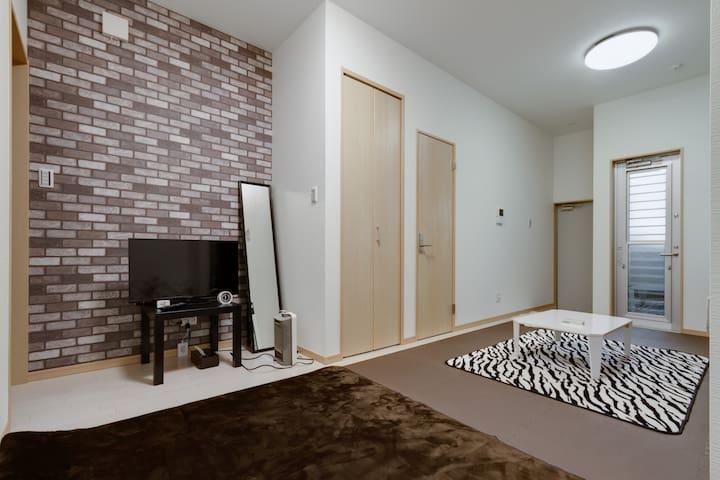 R1 private room 9min sta. 鶴橋 Wi-Fi.京都奈良good access