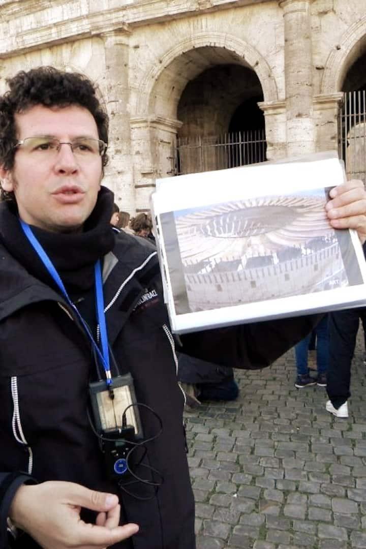 Me outside the Colosseum