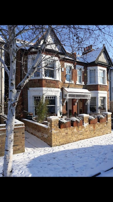 Wintery photo of home