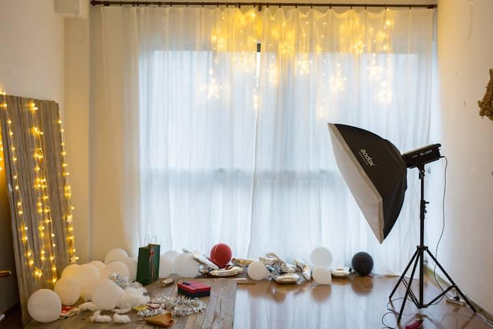 短租优惠可咨询。投影一次性浴巾!可爱龙猫床-空间大,房间独立卫浴!福州宝龙附近的安全社区(进出门禁)
