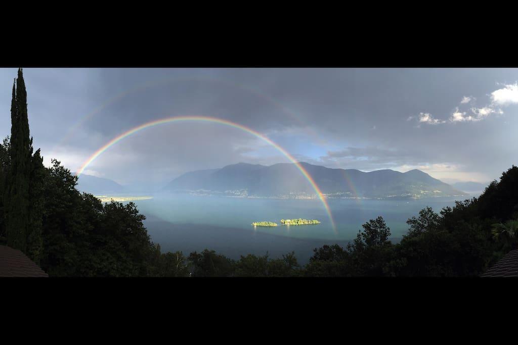 Magic view over Lake Maggiore
