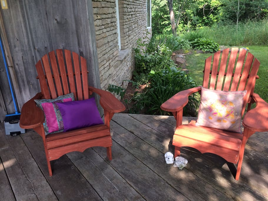 Muskoka Chairs on front porch