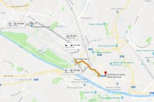 Distance to Florence Cathedral