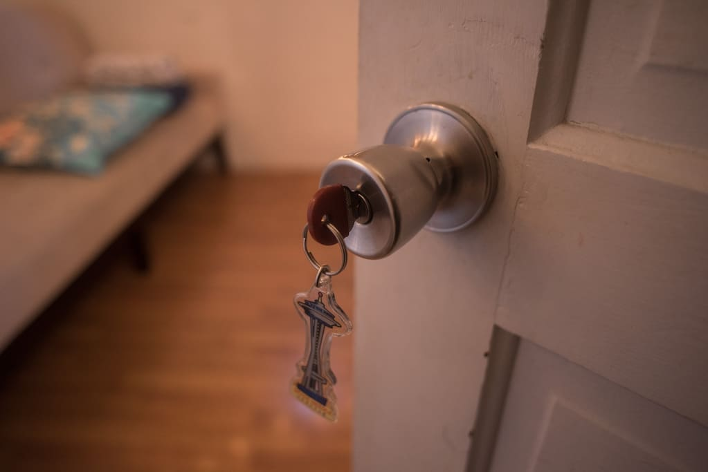The house is shared with other airbnb guests, and every space has its own locking door, of course.  :)