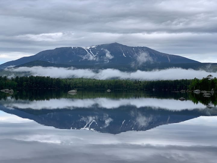 Millinocket Lake:1/2 mile NEOC, snowmobile, XCski