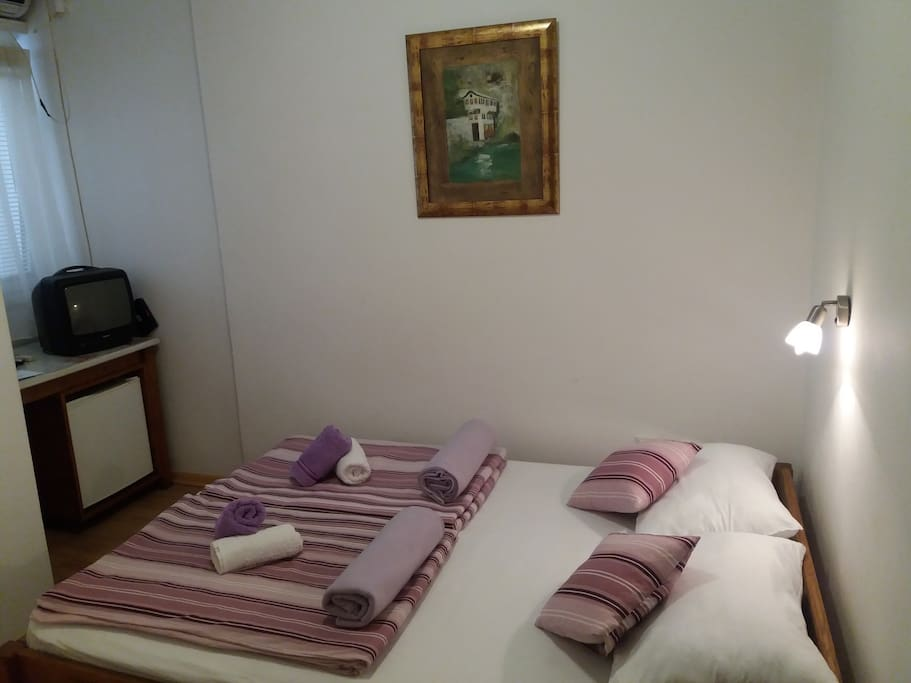 double room with double bed and private bathroom