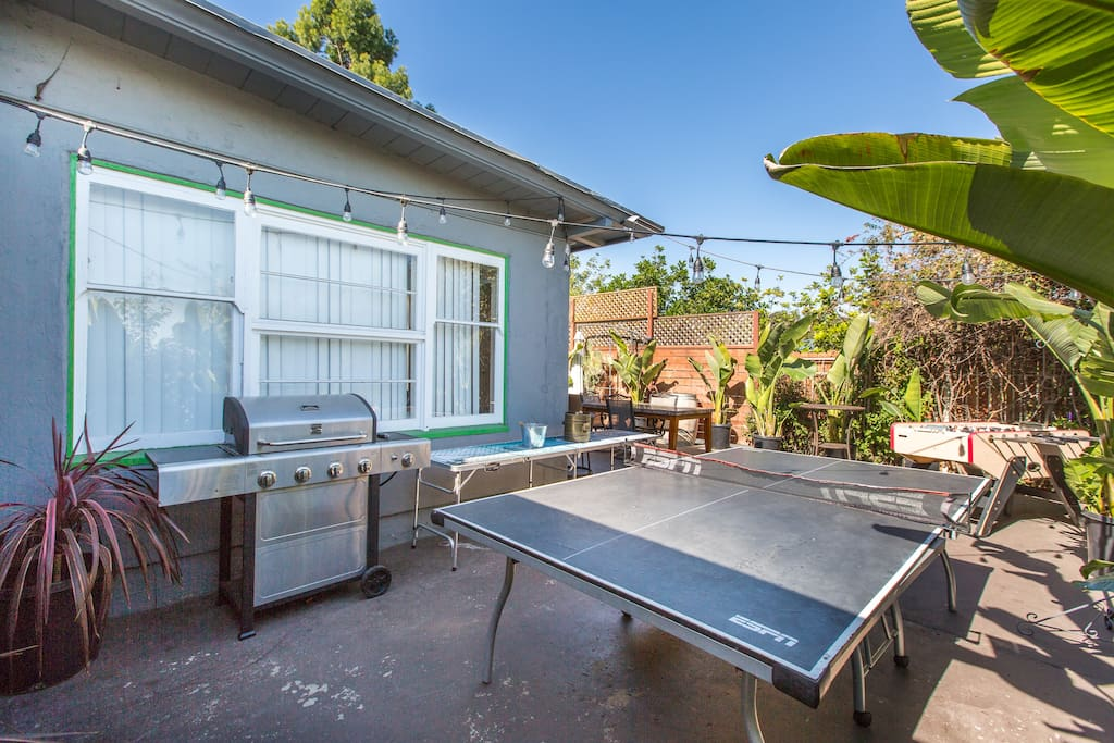 BBQ and ping-pong table