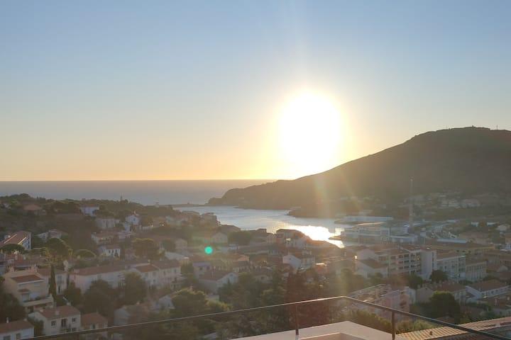 Port Vendres  vue mer