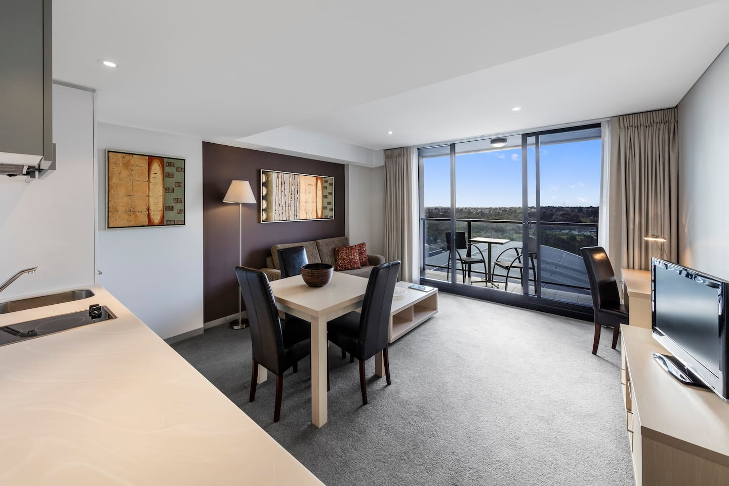 1 Bedroom: Dining and Living Room