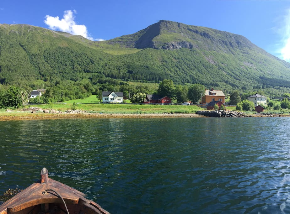 Boat trip on a beautiful summer day July 2017, in our village Tomrefjord.
