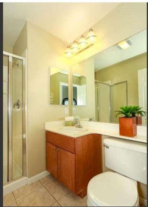 Private bathroom attached