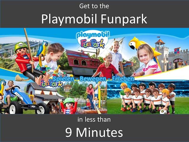 30 QM, ruhig, klimatisiert, 8 Min zu Playmobil