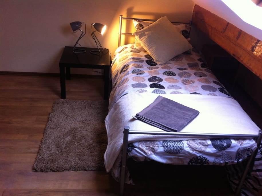 one of the beds as a single