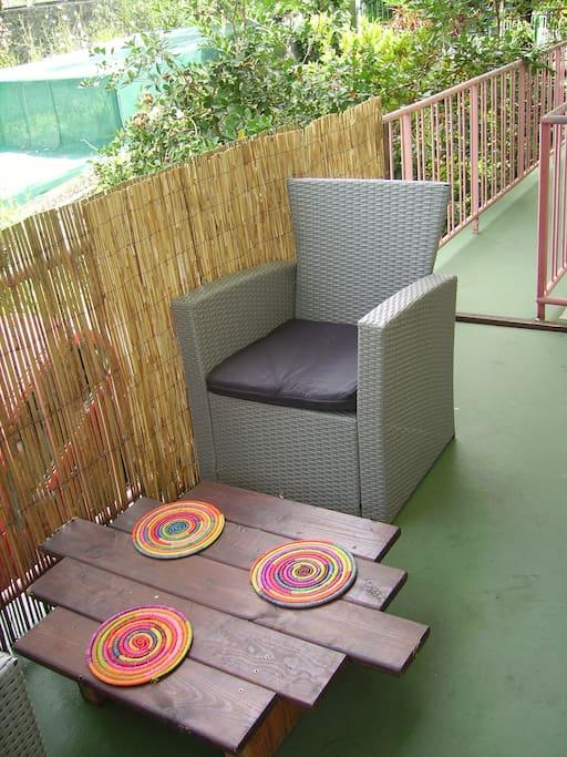 Table basse sur terrasse