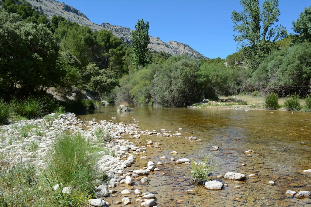 Great walks in the natural parque on your doorstep: this is the Rio Castril about 4km from the house.