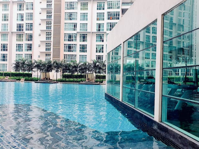 Family Stay 5pax@Central Residence FastWifi 2 Beds