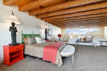 The loft has ocean and downtown views