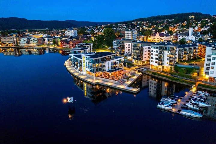 Urban og moderne leilighet midt i Porsgrunn