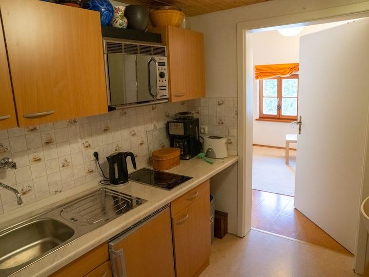 Appartement m. eigener Küche in ehem. Bergbauerhof