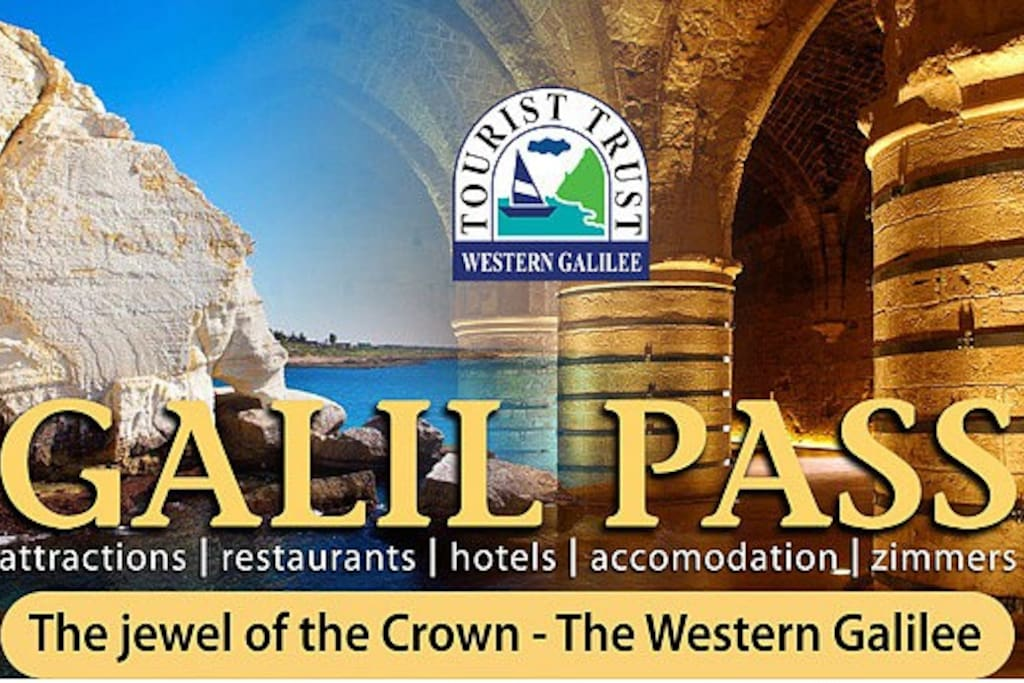 free entry to the Old Acre Crusader Experience, the Rosh Hanikra Cable Car and discounts on attractions and restaurants in the Western Galilee region