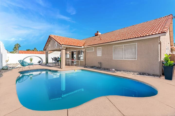 Amazing home  10 min from the strip with pool