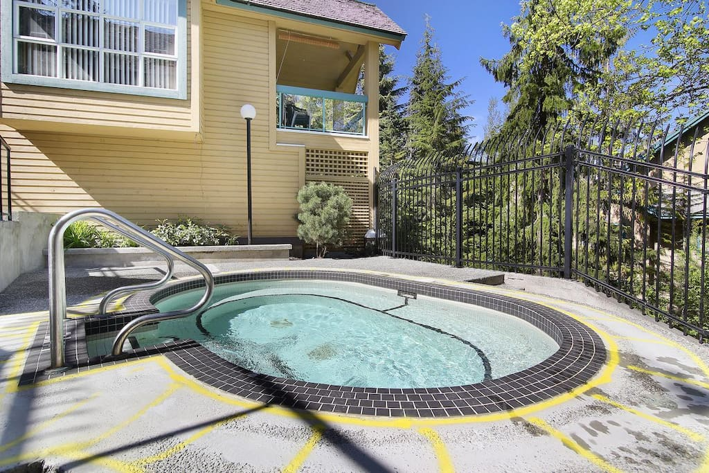 outdoor hot tub ....great after skiing or hiking