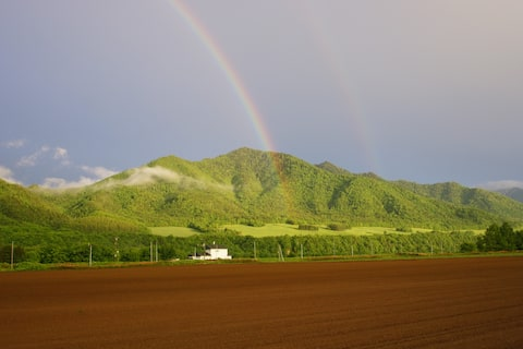 Private Farm house in great nature of Hokkaido!!