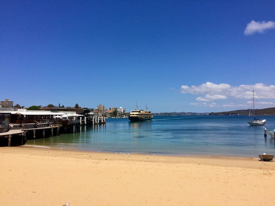 Manly Wharf 5-10 minute walk, with direct ferry services to the city, Barangaroo and Watsons Bay.