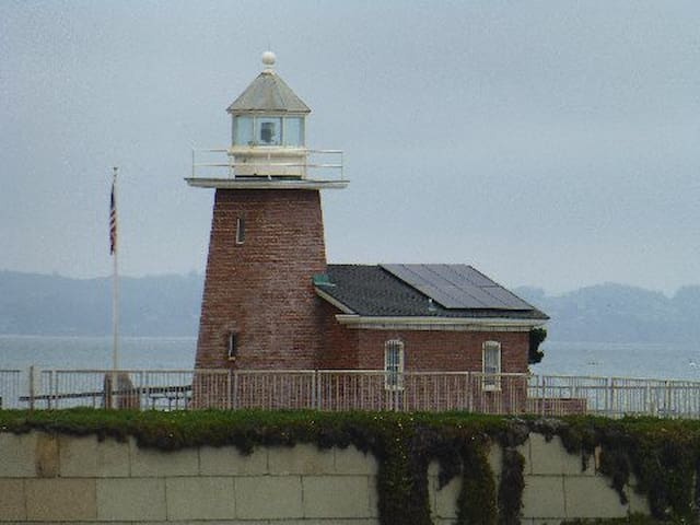 Lighthouse Point and Surfing Museum at Steamer Lane