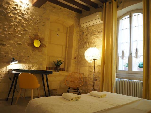 Cosy yellow room