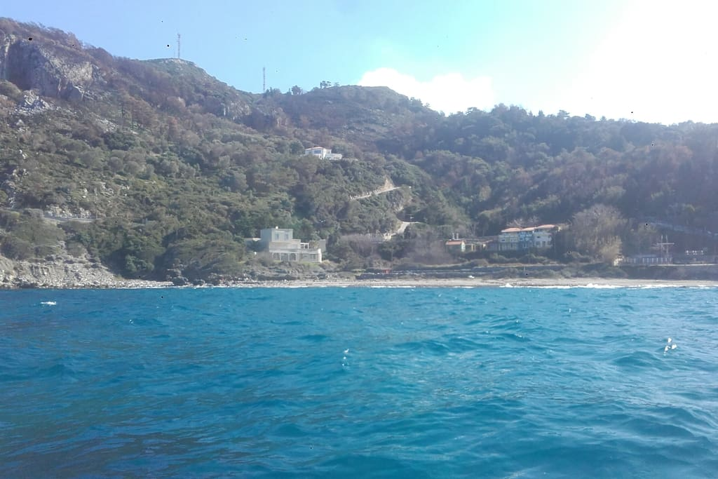 photo of the house from the deep blue sea!