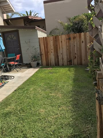 Small but Private Grassy Yard