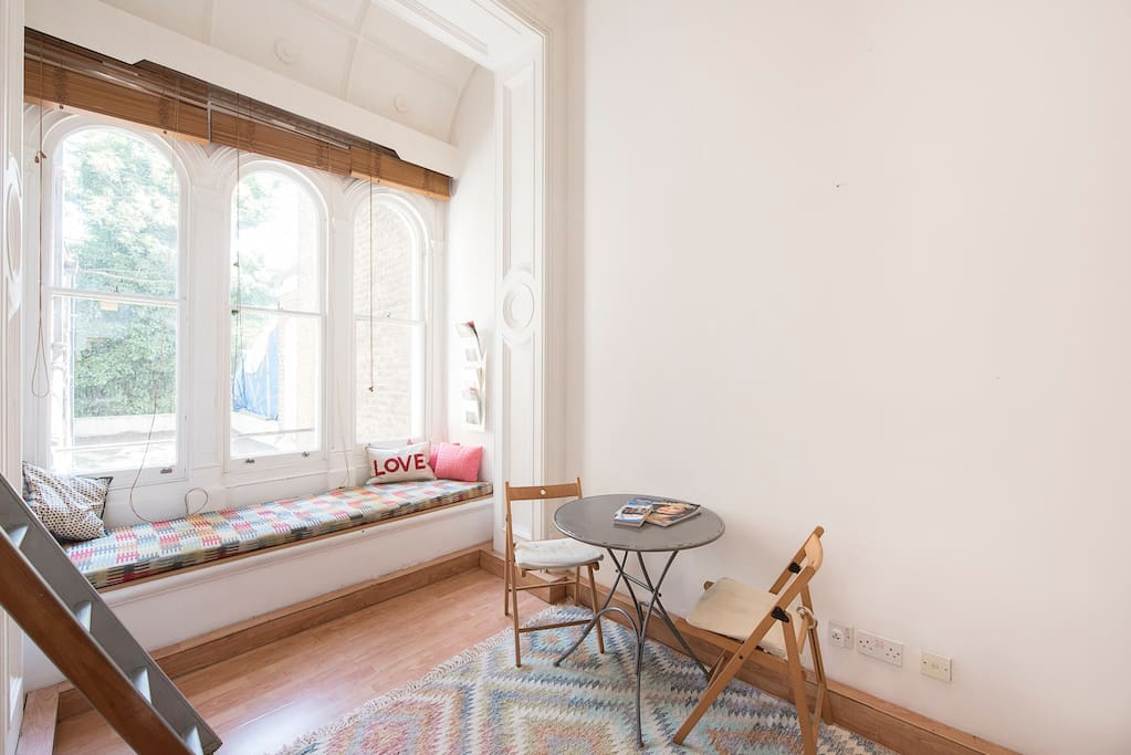 Window seat and dining table