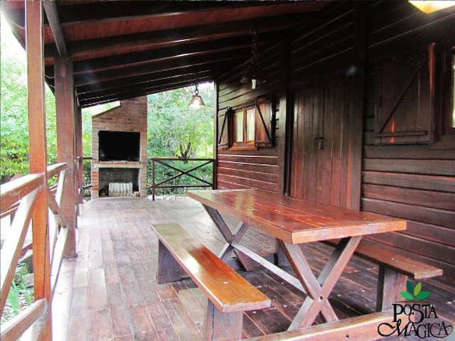 Cabaña de madera a media cuadra del río - Los Reartes - Srub