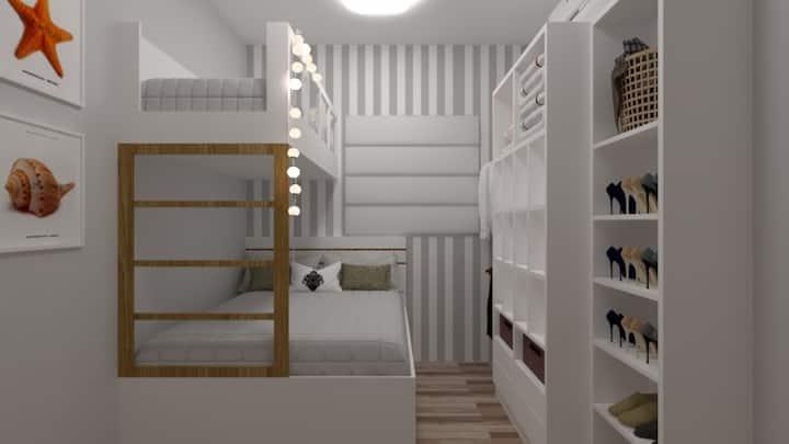 Ap gaivota móveis planejados e ar condicionado