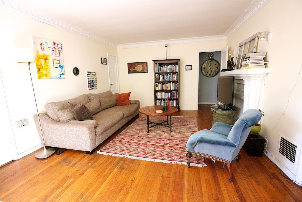 Lovely Living room with a very comfortable couch and lots of movies to watch