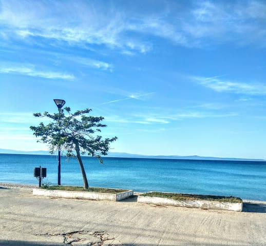 CHALKIDIKI 10m. FRONT OF THE SEA OF POLYCHRONO