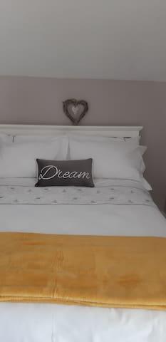 Comfy double bedroom with plenty closet space