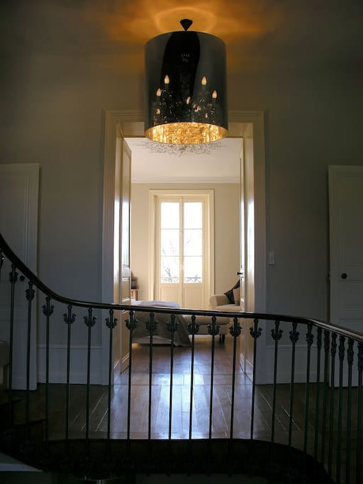 Staircase to main bedroom