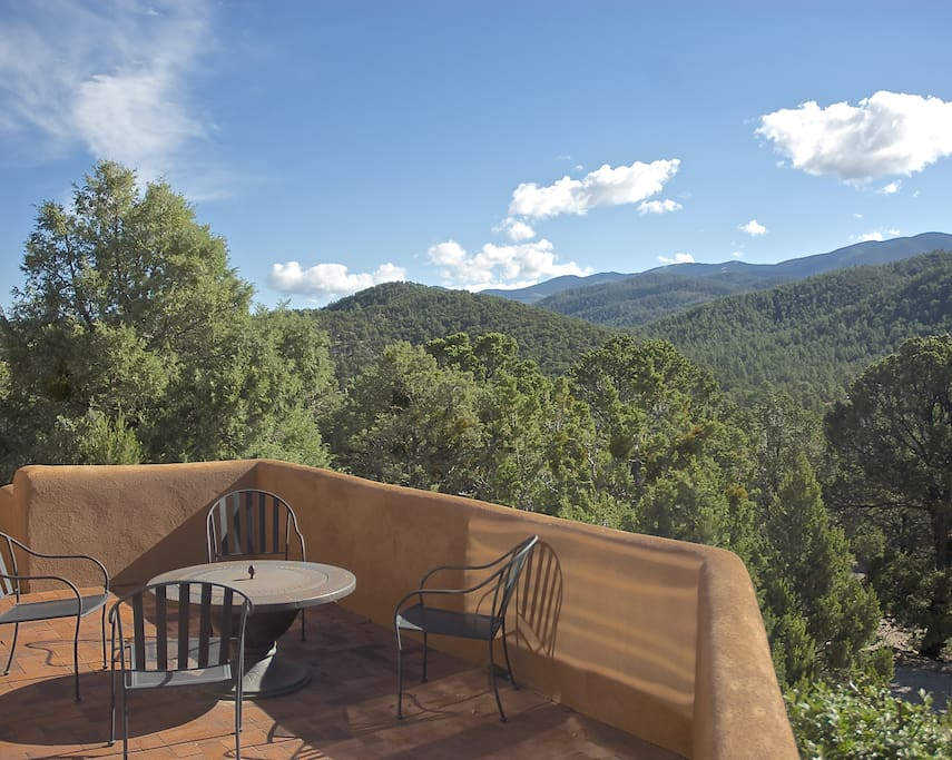 View of the mountains from a private deck