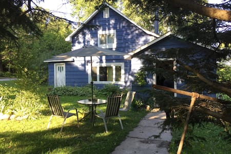 The Blue House on Manitoulin Island